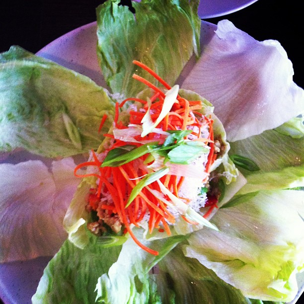 Chicken Lettuce Wraps (@retroville)